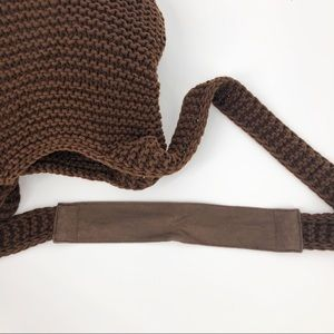American Eagle Outfitters Bags - American Eagle 🦅 Brown Knit Boho Crossbody Bag